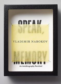Book Info: Speak, Memory Author: Vladimir Nabokov Publisher: Vintage Publication Date: November 30, 1999 Genre: Fiction Design Info: Designer: Michael Bierut Art_director: John Gall