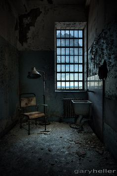 the private room. Abandoned insane asylum (building 93, infirmary) NYC