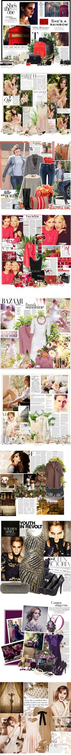 """""""Emma Watson"""" by bailybitch ❤ liked on Polyvore"""