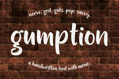 Download Gumption - handwritten font Free #freebie