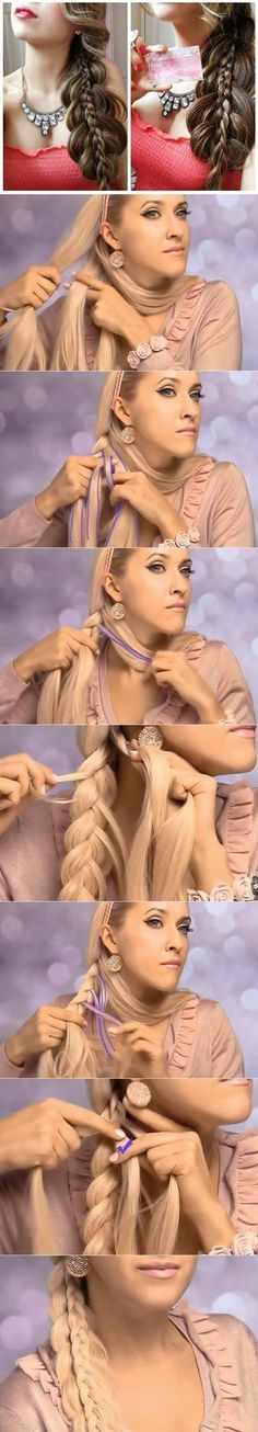 DIY Side Braided Hairstyle for Long Hair | www.FabArtDIY.com LIKE Us on Facebook ==> https://www.facebook.com/FabArtDIY