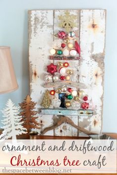 Fun upcycling idea for the holidays!  Use old ornaments and driftwood to make a one of a kind Christmas tree craft.  Lots of fun holiday ideas at this link.