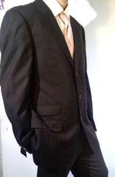 Gucci Designer Men's Charcoal Black 3 Button Cotton Blazer Size L #Gucci #ThreeButton #blazer #Fashion #Ebay