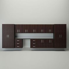 Clear your floor and organize projects on the 10 foot work surface of our Jumbo Cabinet Drawer Workstation in Espresso!