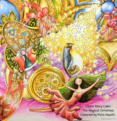 The Magical Christmas by Lizzie Mary Cullen, a Sparkly Speed Colouring Video. – La Artistino – Peta Hewitt; Aug 2017 #themagicalchistmas #lizziemarycullen #petahewitt #laartistino #adultcoloringbook #coloringbook #coloringbook #coloring #coloriage #colouringforadults #adultcoloringbook #coloredpencils #adultcoloring #colouring #colouringbook #coloringtutorial