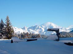 Mont Blanc from Refuge du Christ. 1.5 hour walk from Chalet Vache Bleue, Les Allues Meribel.