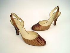 Prada Snakeskin Sling Backs. Retail-$620, HW- $95.