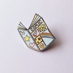 Comic book enamel pin - lapel pin - hat pin - pin badge by MightyPop on Etsy https://www.etsy.com/listing/291738869/comic-book-enamel-pin-lapel-pin-hat-pin