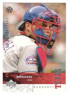 Ivan Rodriguez # 77 - 2002-03 Upper Deck Superstars Multi Sports Card - MLB Baseball