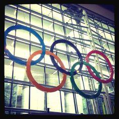June 27th!!! :) // Massive Olympic rings greet travelers to Heathrow #London2012