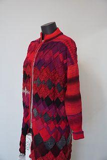 Ravelry: Tanyarzh's Irregular entrelac Yarn Needle, Knitting Needles, Ravelry, Men Sweater, Wool, Pattern, Sweaters, Art, Fashion