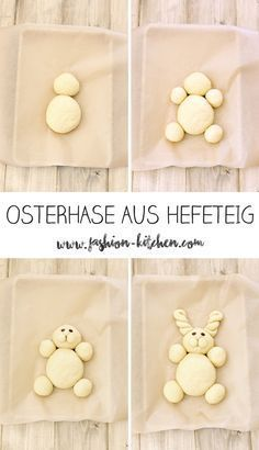 cute Easter bunny made of yeast dough - Fashion Kitchen- süßer Osterhase aus Hefeteig – Fashion Kitchen Easter bunny made of yeast dough, step by step instructions, … - Cute Easter Bunny, Happy Easter, Bunny Bunny, Easter Recipes, Dessert Recipes, Pancake Recipes, Cute Baking, Easter Crafts, Food Art
