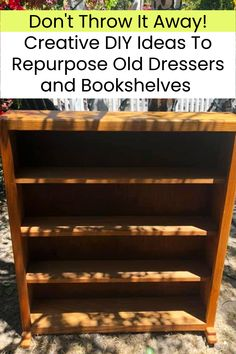 Don't Throw It Away! Creative DIY Ideas To Repurpose Old Dressers and Bookshelves Diy Home Crafts, Wood Crafts, Easy Crafts, Diy Home Decor, Easy Diy, Dyi, Furniture Makeover, Diy Furniture, Old Dressers