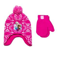 DISNEY FROZEN ANNA & ELSA PERUVIAN BEANIE HAT AND MITTENS SET TODDLER GIRL 2T-5T in Clothing, Shoes & Accessories, Baby & Toddler Clothing, Baby Accessories | eBay