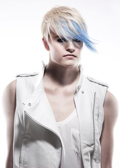 Hair | Coiffure: Daniel Naumovski Colour | Coloration: Norm Wright Makeup | Maquillage: Katie Foster Fashion | Mode: Maha Photo: Natasha Gerschon  http://www.canhair.com/collections/?id=4274  #Hair #Style #Fashion #Cut #Colour
