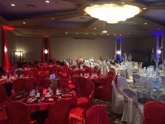 Fire and Ice Ball Centerpieces, Table Decorations, Fire And Ice, Chandelier, Events, Red, Blue, Home Decor, Candelabra