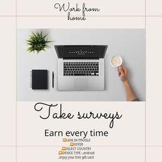 Surveys For Cash, Take Surveys, Make Money Fast, Online Earning, Free Gift Cards, Work From Home Jobs, The Selection, Make Quick Money