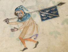 Detail from The Luttrell Psalter, British Library Add MS 42130 (medieval manuscript,1325-1340), f157r