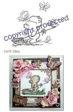 Digi Stamp - Bear and Butterflies