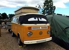VW T2 Bay Van Window Camper Screen Wrap Cover Transporter Frost Black Blind Eyes