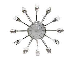 Reloj de pared Cubiertos - Ø38,5 cm