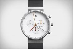 Jacob Jensen is a Danish industrial designer, best known for his work with Bang and Olufsen. He designed thisbeautiful chronograph, a contemporary classic characterized by great functionality and an unmistakable graphic style.