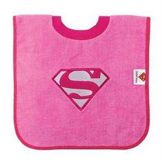 DC Comics by Bumkins Pink Supergirl Pullover Bib Pullover Designs, Baby Bibs, Walmart Shopping, Supergirl, Neck T Shirt, Rib Knit, Free Design, Dc Comics, Barn