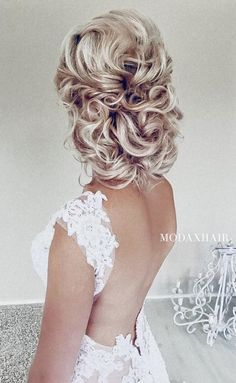 Wedding updo hairstyle idea 4 via Ulyana Aster - Deer Pearl Flowers / http://www.deerpearlflowers.com/wedding-hairstyle-inspiration/wedding-updo-hairstyle-idea-4-via-ulyana-aster/