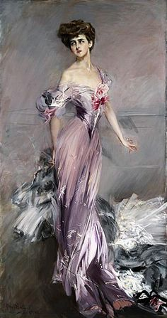 """Mrs Howard Johnston""  tableau de Giovanni Boldini (1842-1931) artiste peintre et illustrateur italien.  Il fut un ami proche d'Edgar Degas."