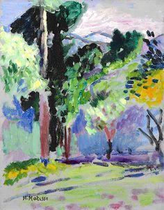 Henri Matisse - Fauvisme - 'Landscape at Collioure', 1905 Henri Matisse, Matisse Art, Matisse Paintings, Picasso Paintings, Paintings I Love, Landscape Art, Landscape Paintings, Art Français, Raoul Dufy