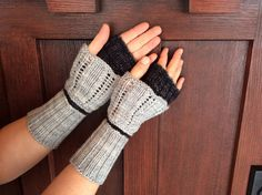 Double Layer Bohemian Fingerless Mitts  by SpottedBearKnits