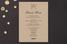 With Joy Menu Cards by Eric Clegg at minted.com
