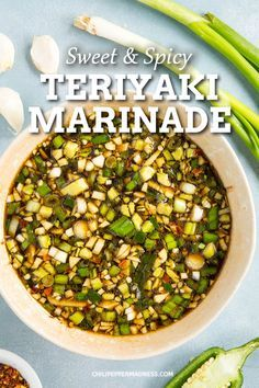 This super quick sweet spicy teriyaki marinade recipe is perfect for marinating chicken pork shrimp or fish. You cant beat a savory homemade marinade. Shrimp Marinade, Teriyaki Marinade, Marinade Sauce, Chicken Steak, Sauce For Chicken, Marinated Chicken, Spicy Chicken Recipes, Dips, Recipes
