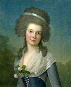 Adolf Ulrich Wertmuller (1751-1811) -  Mademoiselle Susan Johnston  American Gallery Files