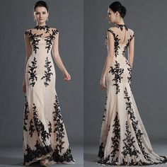 Cheap Black Lace - Discount 2014 Ssj Black Lace Long Evening Dress Sheer Online with $116.5/Piece | DHgate