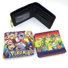 Pokemon Pocket Monster Pikachu Two/Three Fold Wallets