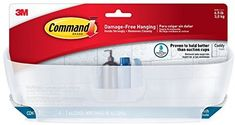 Command Shower Caddy with Water-Resistant Strips, Clear Frosted, 1 Caddy, 4 Strips (BATH11-ES) - - Amazon.com