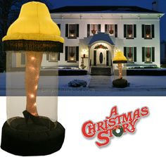 A CHRISTMAS STORY INFLATABLE LEG LAMP YARD DECORATION. haha. love it.