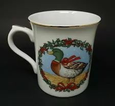 Christmas Mallard Duck Drake Wreath Coffee Tea Mug Cup 3 3/4 in Novelty  Available now from Chastershoppe! Tea Mugs, Coffee Mugs, Hand Thrown Pottery, Christmas Dishes, Mallard, Vintage Coffee, Mug Cup, Drake, My Etsy Shop