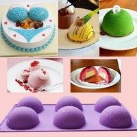 Wish | 5 Holes Round Designed Cake Schokolade Cookies D coration Baking Mould Werkzeug (Size: 5 Holes)