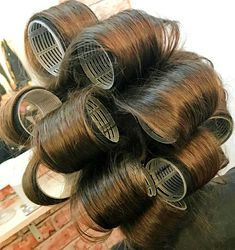 Hair Curlers Rollers, Roller Set, Vintage Glamour, Curled Hairstyles, Perms, Sexy, Make Up, Beauty, Personal Stylist