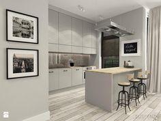 suspenzo_no.22 - Średnia otwarta kuchnia dwurzędowa, styl industrialny - zdjęcie od suspenzo architectural group