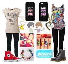 """Friends :D"" by taylamothersole27 ❤ liked on Polyvore featuring J Brand, True Religion, Converse, Dr. Martens, Lazy Oaf and LG"