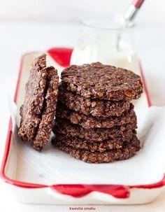 Ciasteczka owsiane bez pieczenia Healthy Deserts, Healthy Sweets, Healthy Baking, Baby Food Recipes, Sweet Recipes, Cookie Recipes, Dessert Recipes, Delicious Desserts, Yummy Food