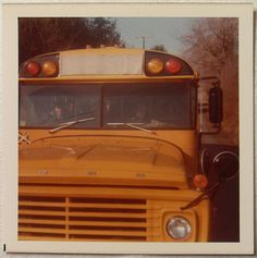 """Late School Bus Early We always rode the school bus. Summerlin and Mrs. In our day, very few kids had the luxury of being """"car riders"""". Old School Bus, School Days, School Buses, Car Rider, My Childhood Memories, Vintage Photos, 1970s, Schools, Transportation"""