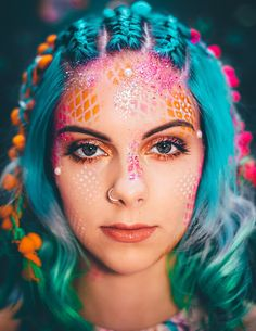 Mermaid makeup go get glitter mermaid make up, mermaid fancy dress, mer Makeup Geek, Makeup Fx, Artist Makeup, Crazy Makeup, Beauty Makeup, Makeup Looks, Hair Makeup, Hair Beauty, Makeup Artists