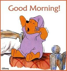 Winnie the Pooh - Wishes everyone a Good morning