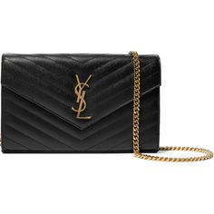 Saint Laurent Monogramme mini quilted textured-leather shoulder bag (5,345 AED) ❤ liked on Polyvore featuring bags, handbags, shoulder bags, black, miniature purse, zipper purse, mini purse, quilted purse and mini handbags