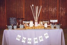 S'More Wedding Table