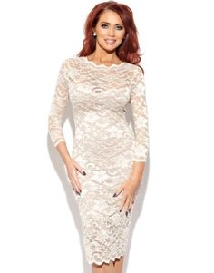 Amy Childs Georgia 1/2 Sleeve Lace Dress